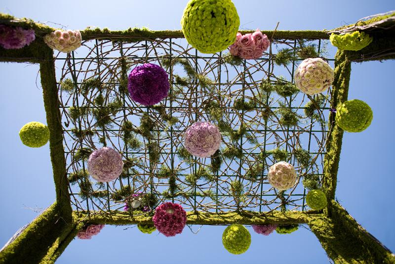 floral pomander arch