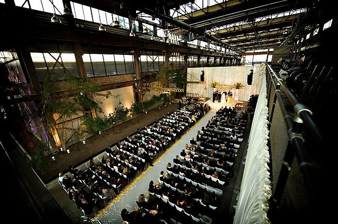 philadelphia urban outfitters warehouse wedding ceremony