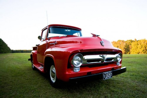 red-tractor-wedding-getaway-car