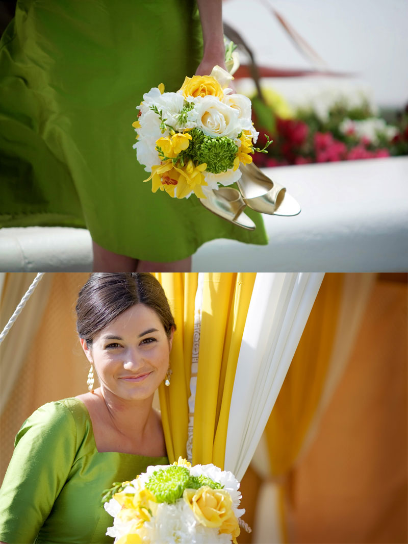 spring green and yellow wedding