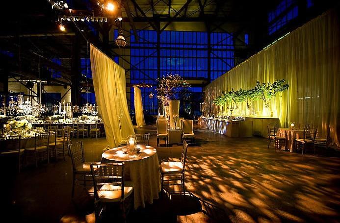 warehouse wedding yellow