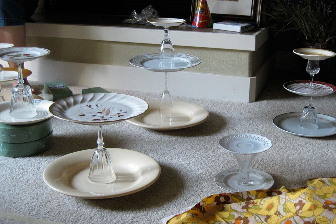tiered dessert trays
