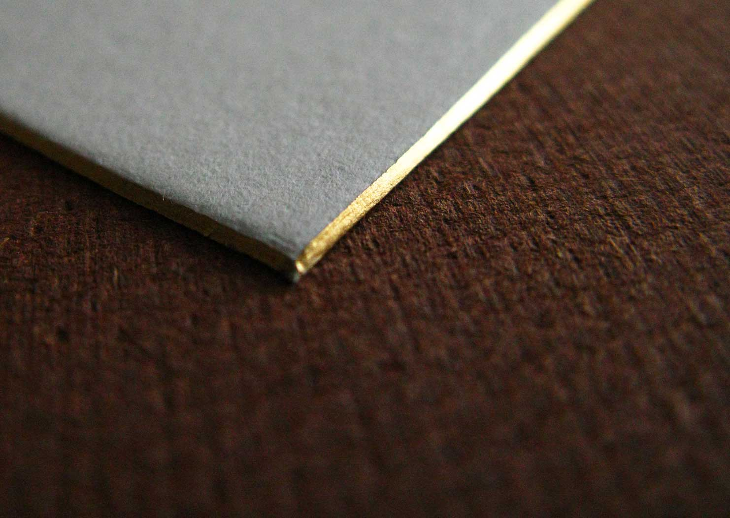gold beveled edge invitation