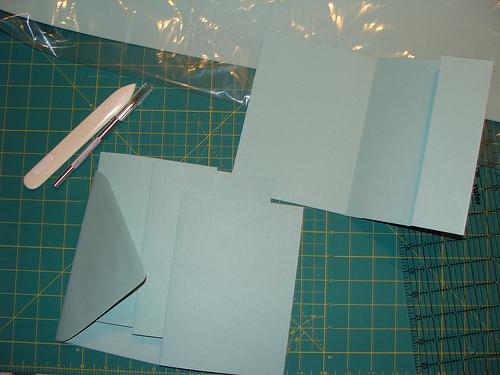 cutting diy invitations