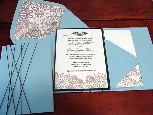 diy pocketfold invitations