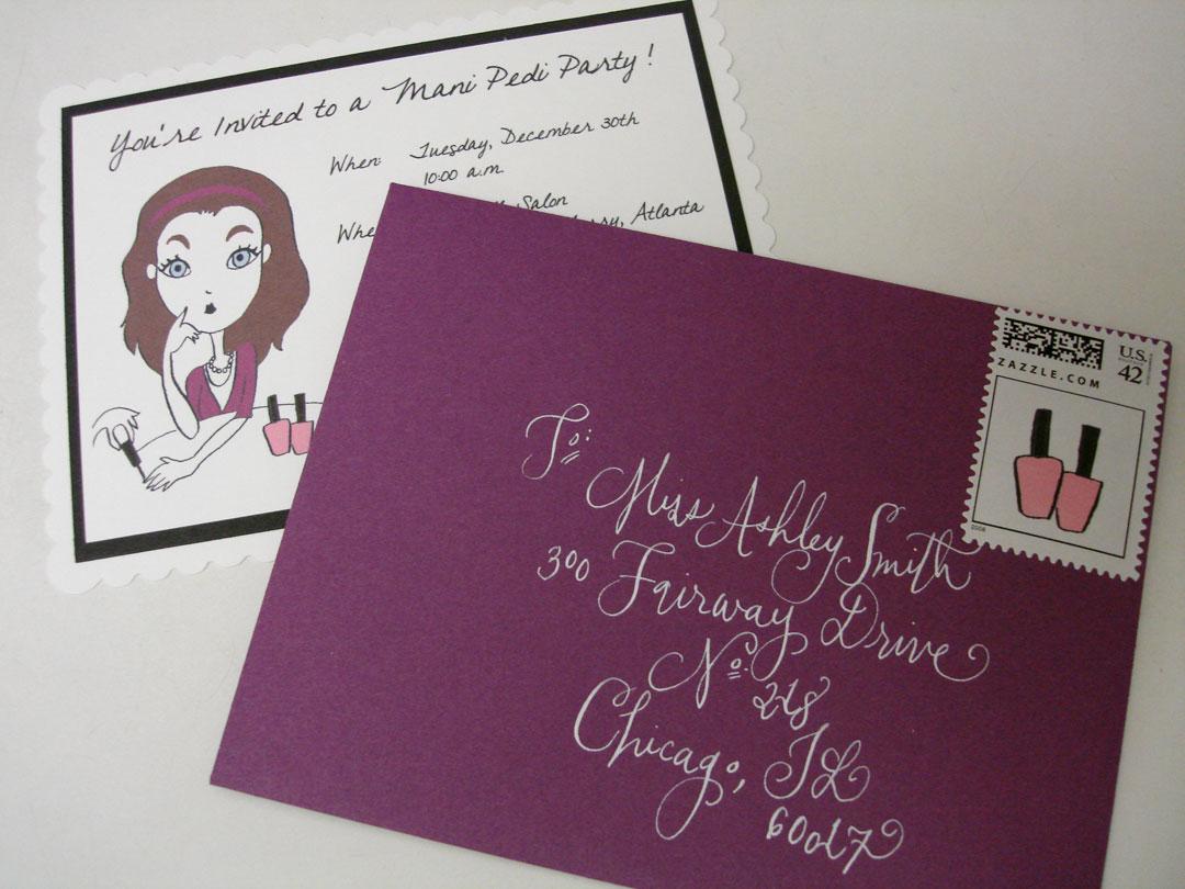 manicure party invites