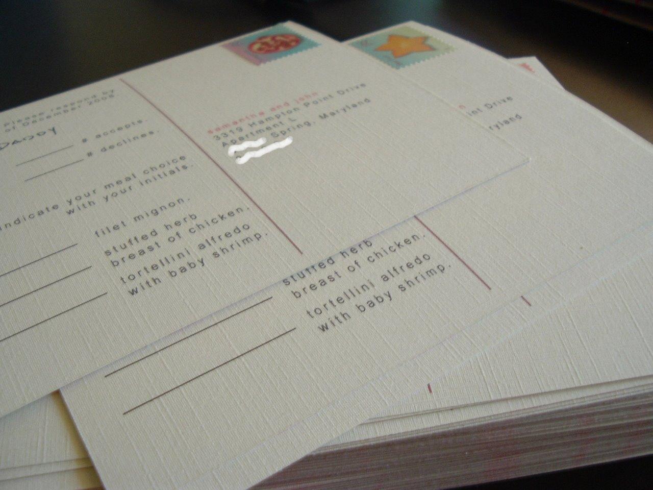DIY Entry 17 Gocco Invitation Set Elizabeth Anne Designs The – Card Stock for Invitations