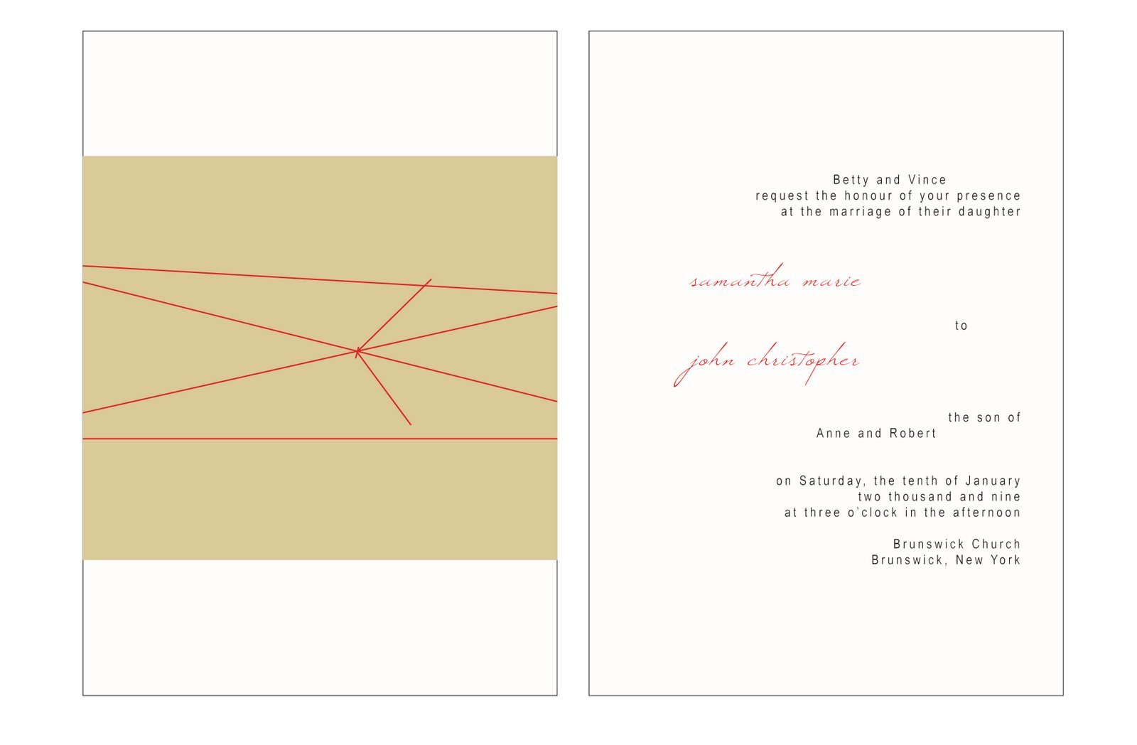 gocco invitation set