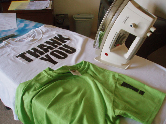 thank you t-shirt postcards