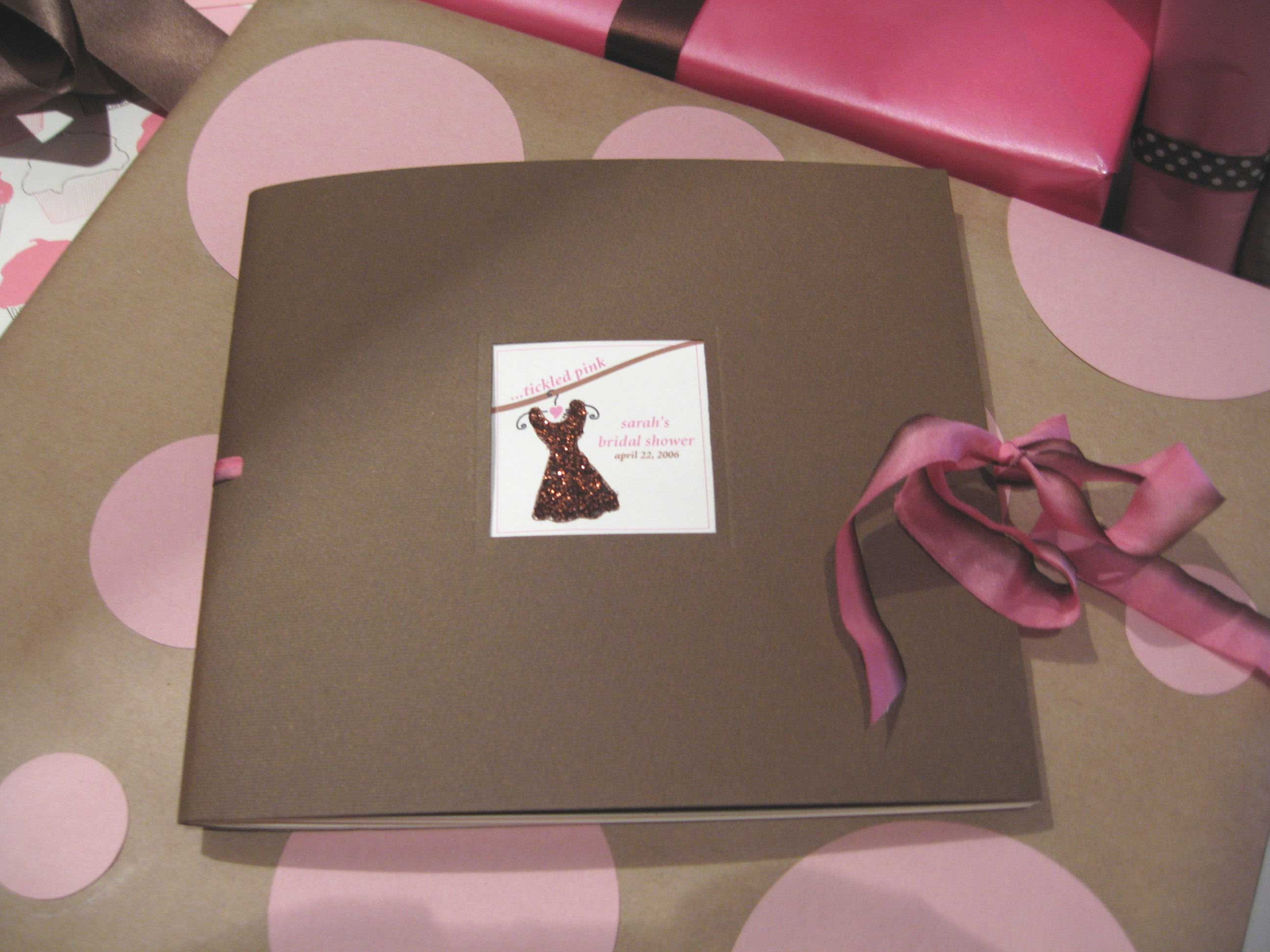 diy bridal shower scrapbook