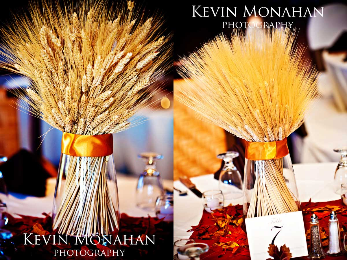 diy wheat stalk centerpieces