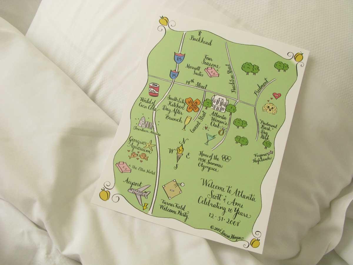custom map calligraphy laura hooper