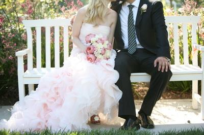 pink wedding in summer