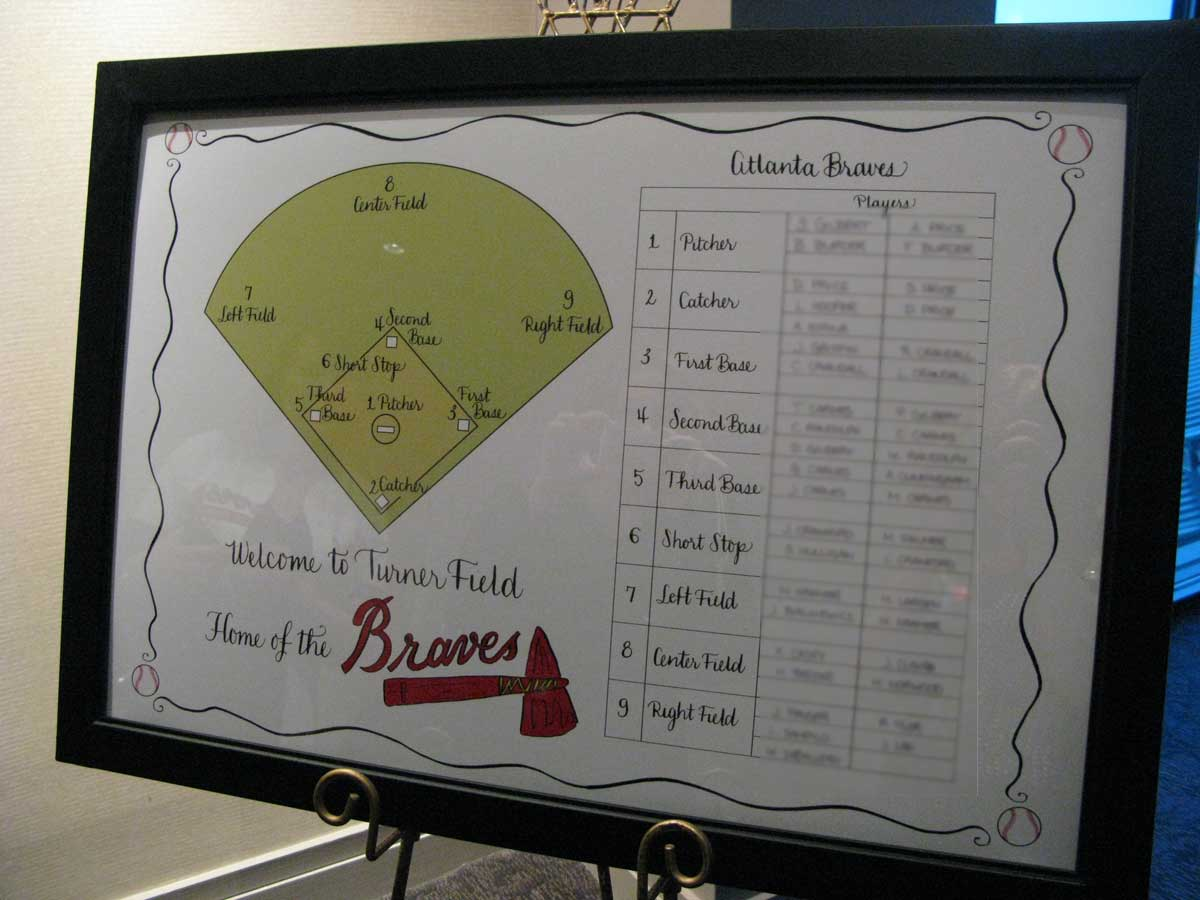 custom drawn seating chart