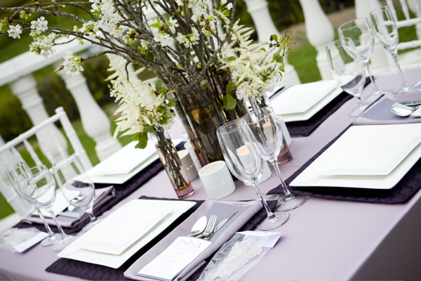 purple and green tabletop
