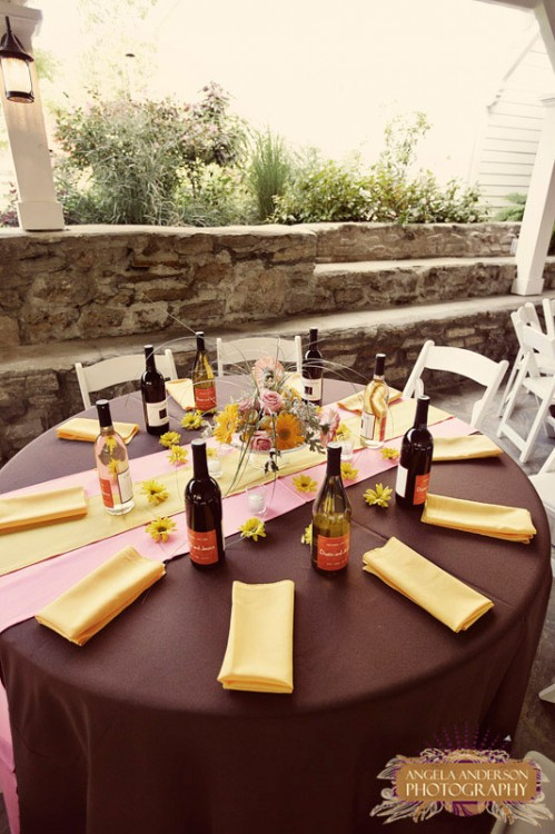 Brown and Yellow Wedding Table - Elizabeth Anne Designs: The Wedding ...