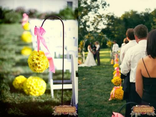 Yellow Daisy Pomanders