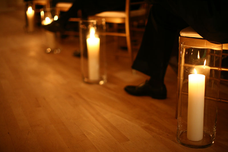 Candles In Aisle Wedding