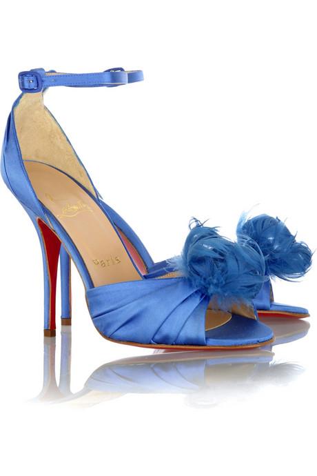 blue high heel for elegance wedding shoes