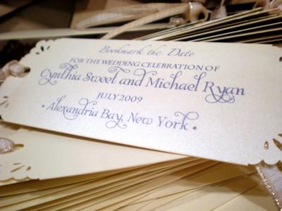 bookmark wedding invitations