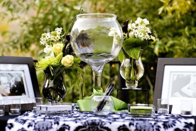 guest book bowl vase