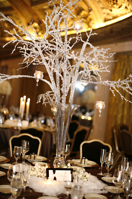 crystal branch centerpiece