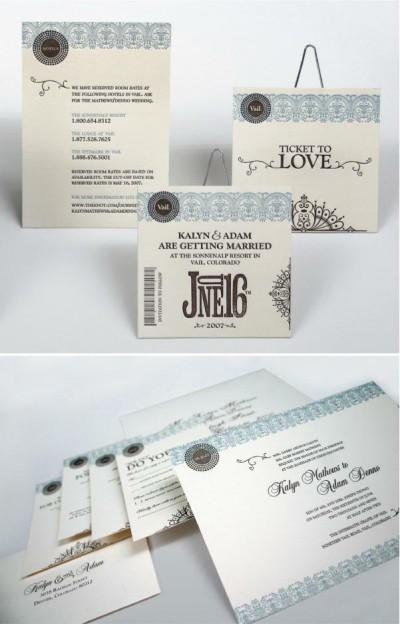 lilah paper letterpress invitations