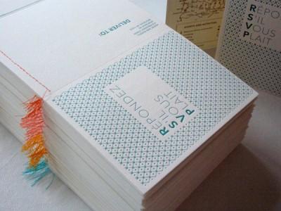 letterpress and gocco invitations