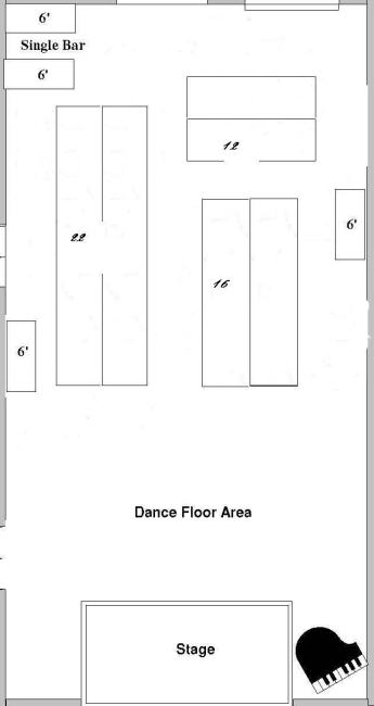 Layout in this community hall link to pics weddingbee for Table th width ignored