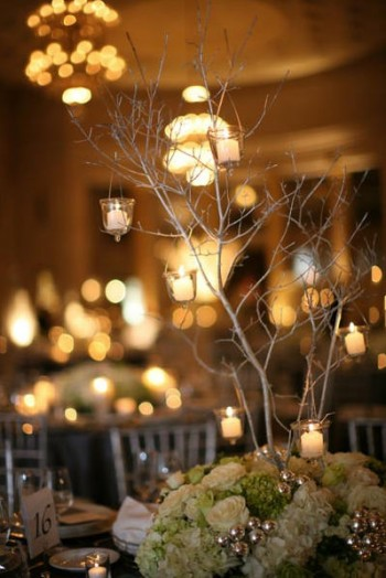 green-and-white-branch-centerpiece