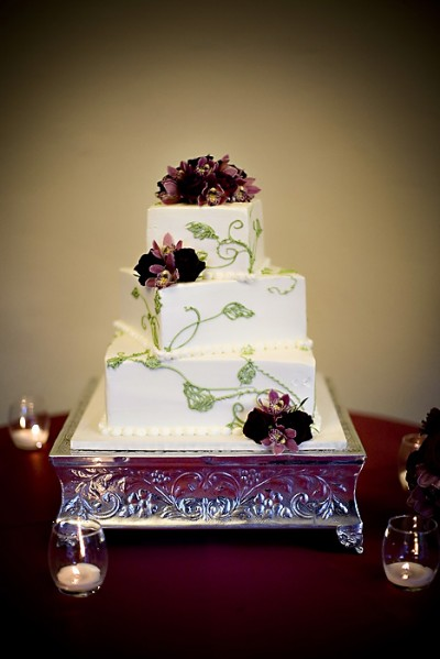 Purple White Green Wedding Cake Elizabeth Anne Designs The