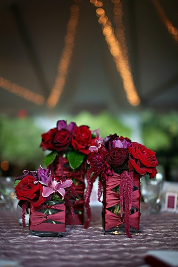 ribbon-wrapped-centerpieces