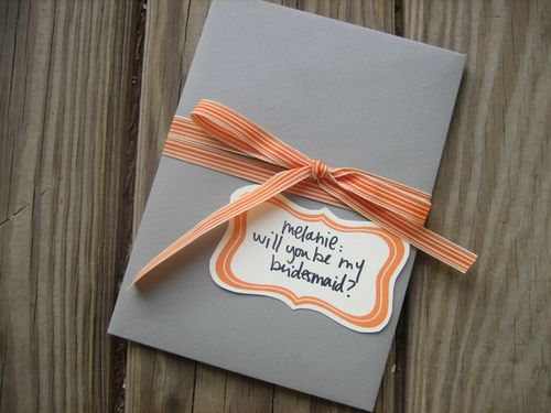 wedding wedding planning , will you be my bridesmaid envelope pocket card