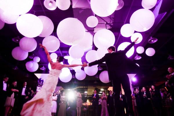 Purple Lighting Wedding