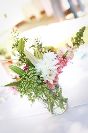 pink-and-green-mason-jar-centerpieces