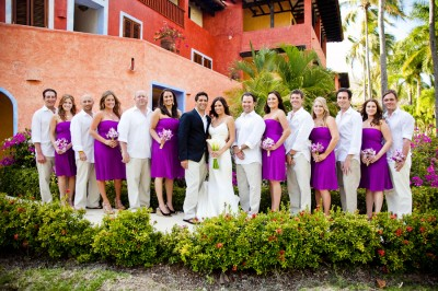 Wedding Party List on Purple And White Bridal Party