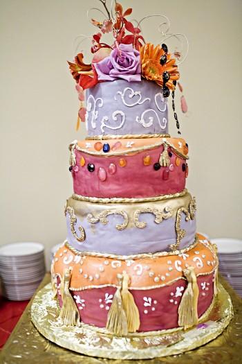 multicolor wedding cake
