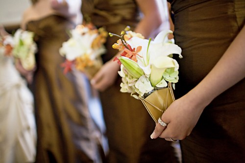 bridesmaids flower clutches