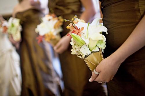 bridesmaids flower clutches
