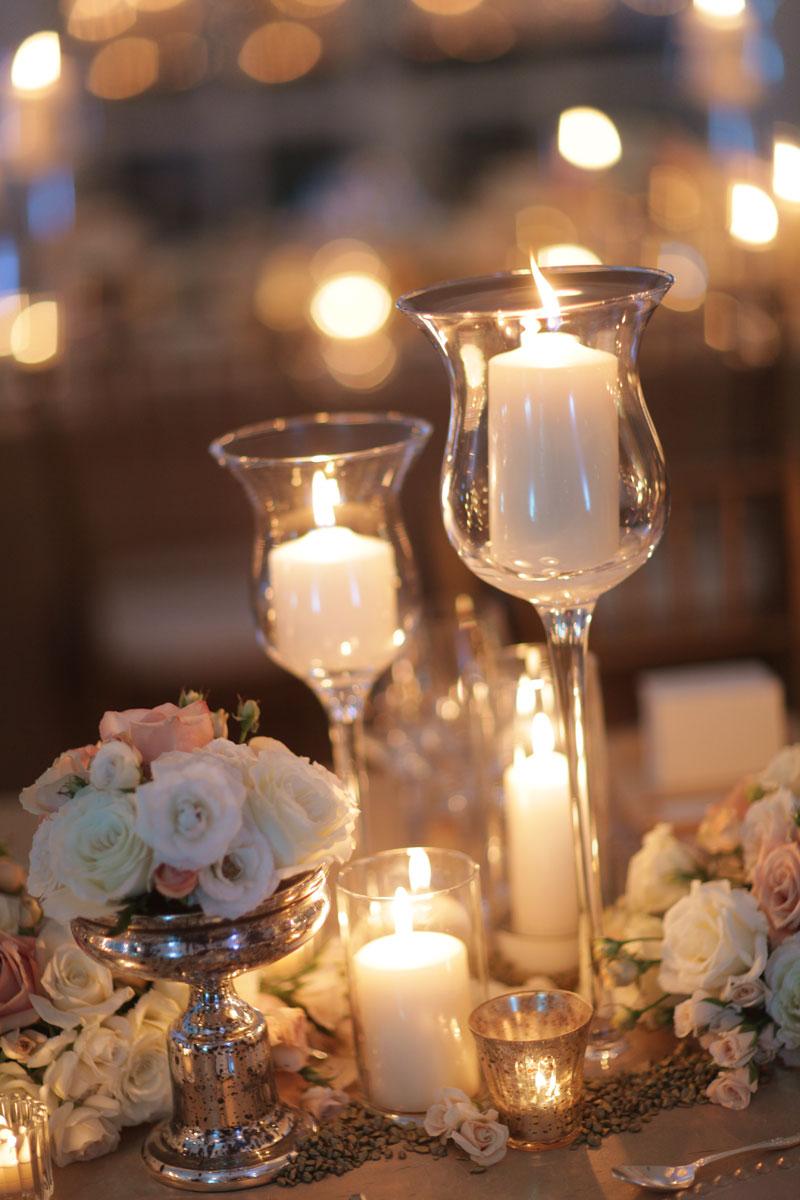 Estate table centerpieces elizabeth anne designs the wedding blog estate table centerpieces1 gold pebble centerpieces junglespirit Choice Image