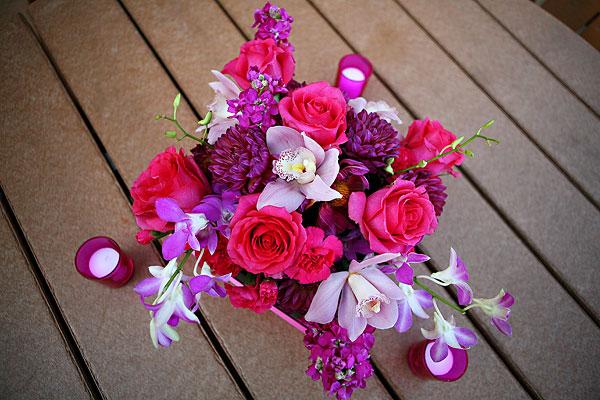 pink-and-purple-centerpiece - Elizabeth Anne Designs: The Wedding Blog