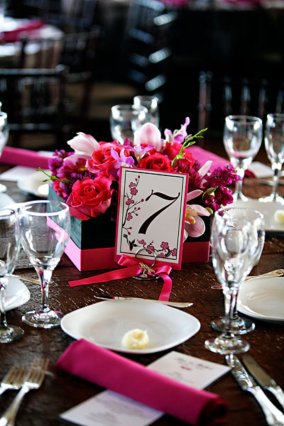 Square Black And Pink Centerpiece Ribbon Wred Diy