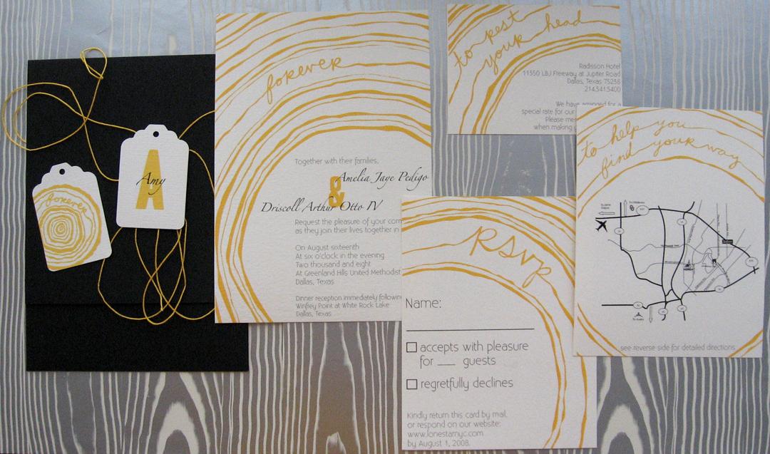 Woodgrain Invitation Suite Project8256