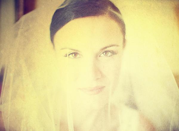 Bride Veil Elegant Photo