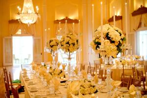 Elegant Ivory Ballroom Centerpiece
