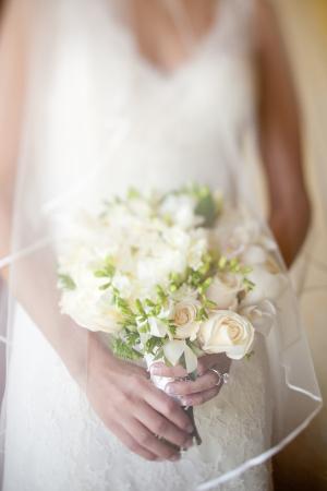 White Green Garden Style Bouquet