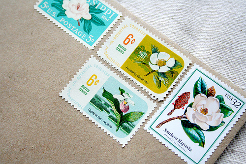 Vintage Stamps for Wedding Invitations