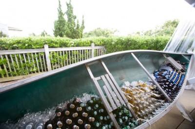 canoe full of beer