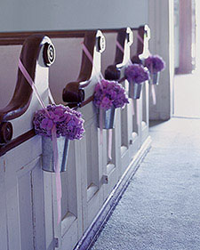 purple-flowers-galvanized-pail-church-decor