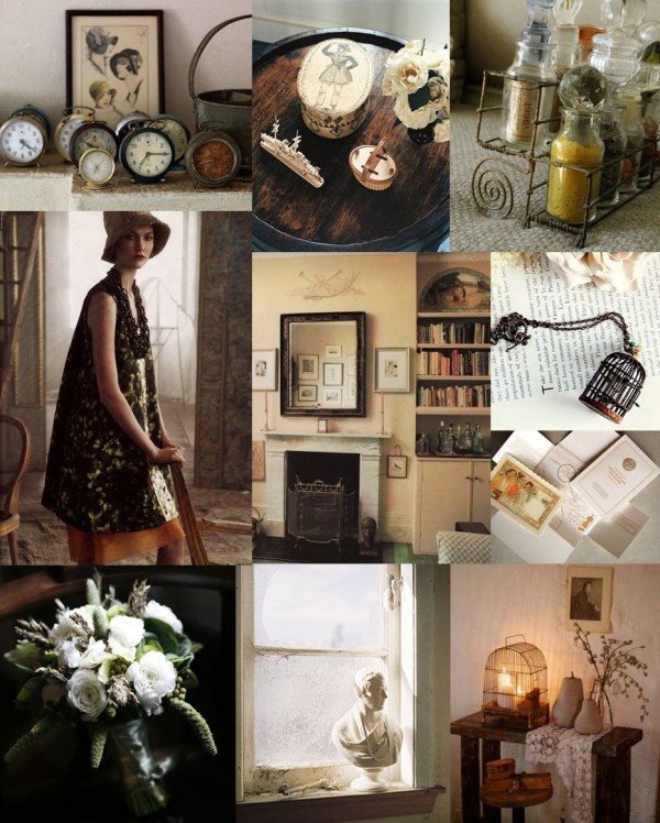 vintage-treasures-green-brown-wedding-inspiration-board
